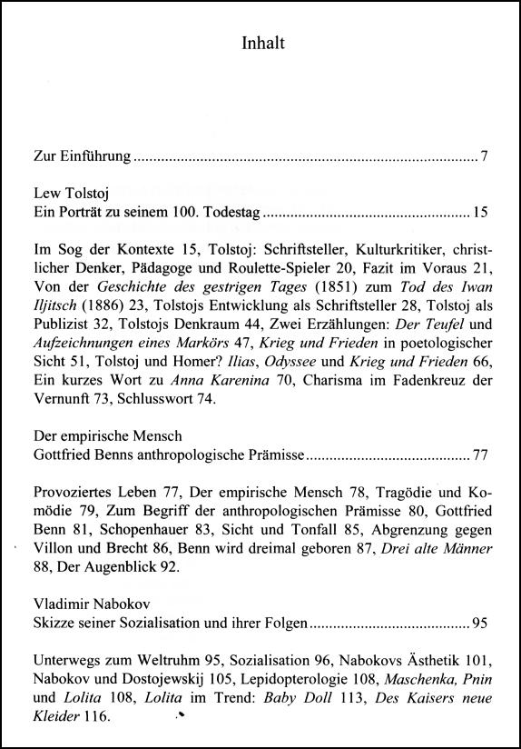 Inhaltsverzeichnis Gerigk Dichterprofile